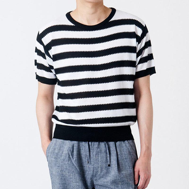 Modal Stripe R-Knit GK7201C - Black
