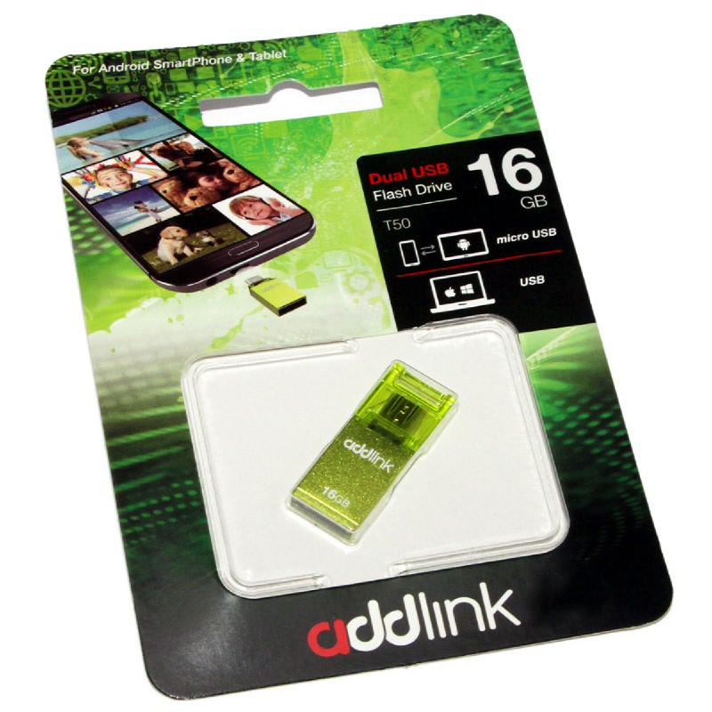 addlink OTG DUAL USB & TYPE C 16GB GREEN ad16GBT50G2GRN 1905674
