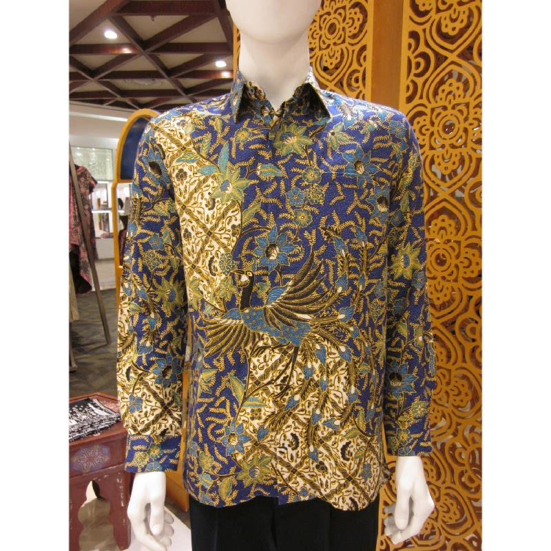 Batik Semar Hem Panjang Dobi Isen Sinawur 40 Biru (5L)