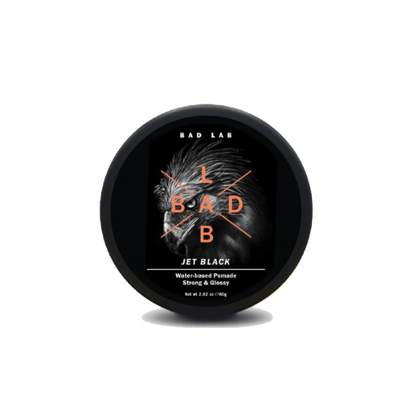 Bad Lab Jet Black Strong & Glossy Water Based Pomade  80Gm