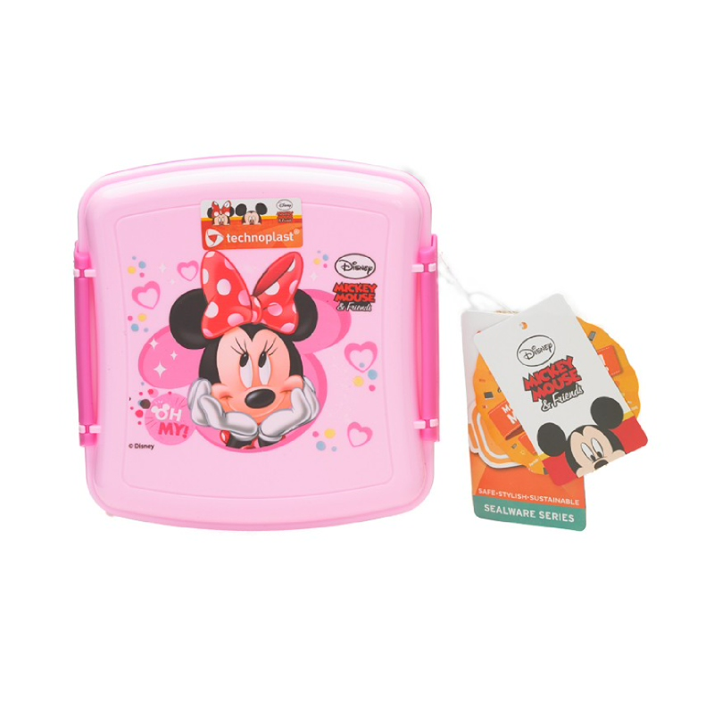 Minnie Pink Lunch Box Square