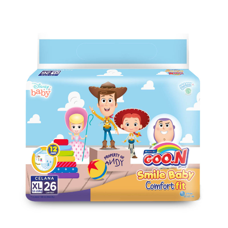 Goo.N Smile Baby Diaper Pants Xl 26S