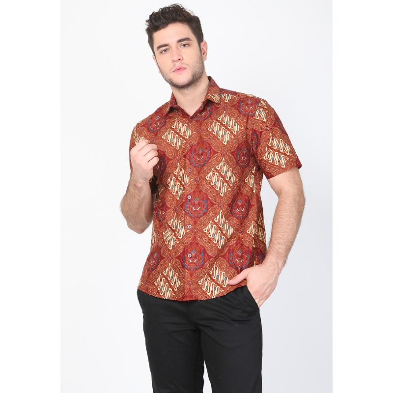 Aksa Batik Raka Hem Pendek Multicolor
