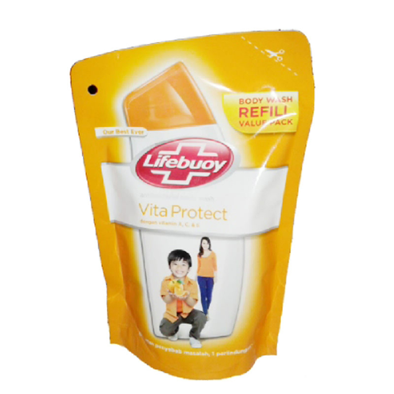 Lifebuoy Body Wash Vitaprotect Pouch 450 Ml