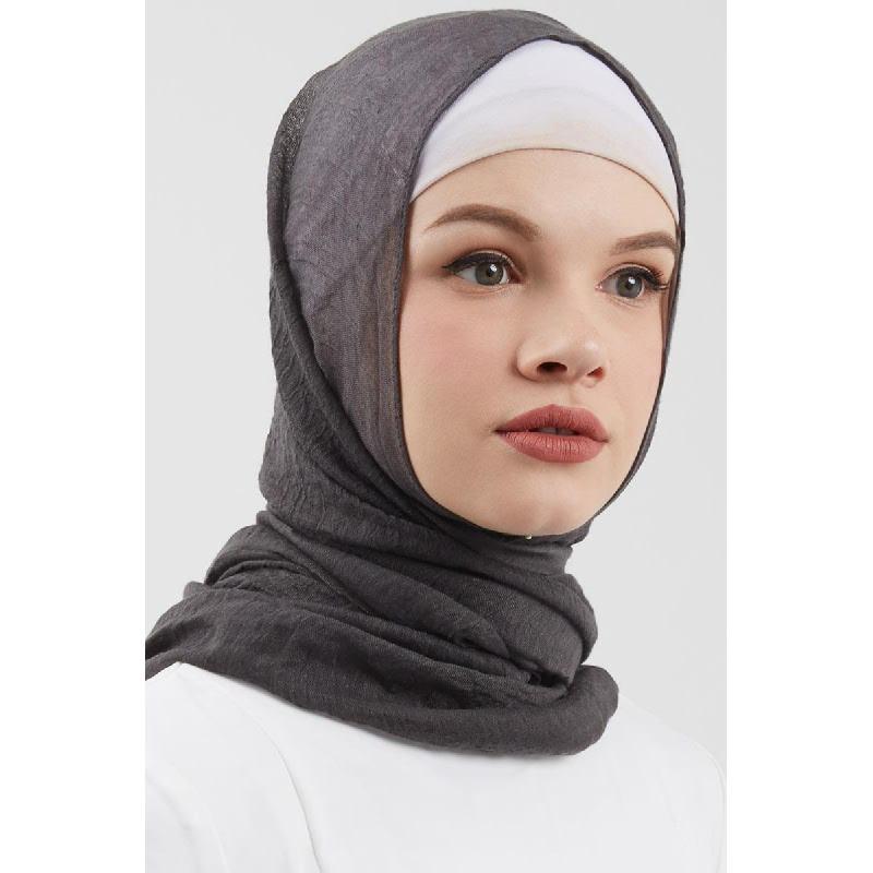 Dara Pashmina Plain Dark Grey