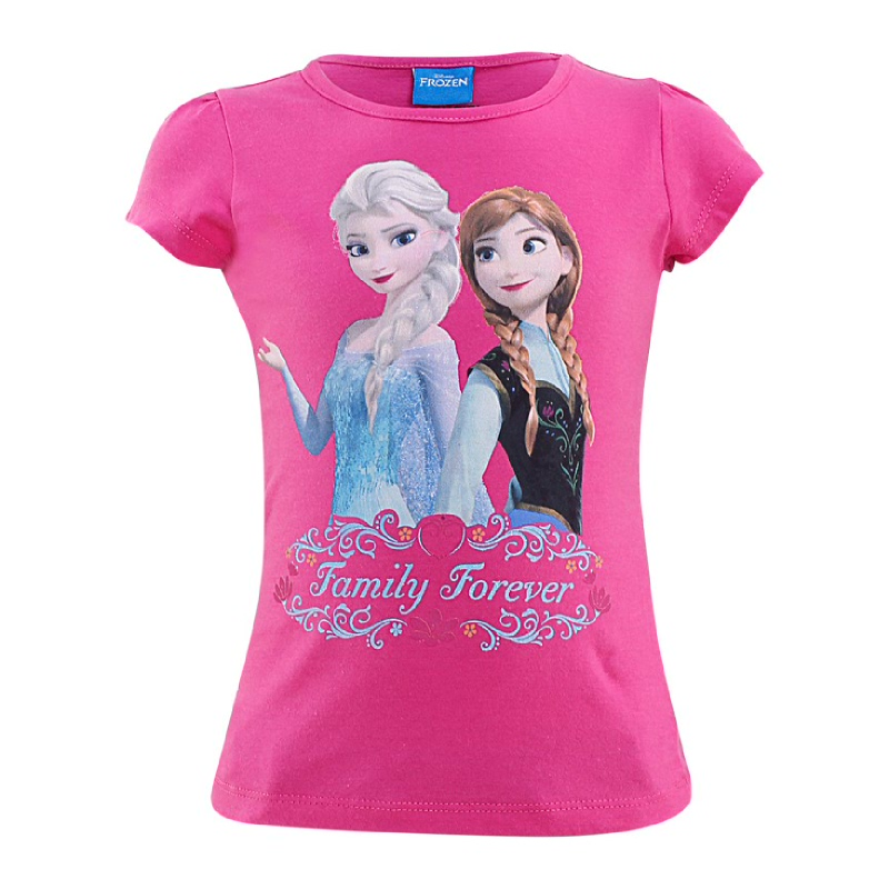 Frozen Princess Elsa And Anna T-Shirt Kids Pink