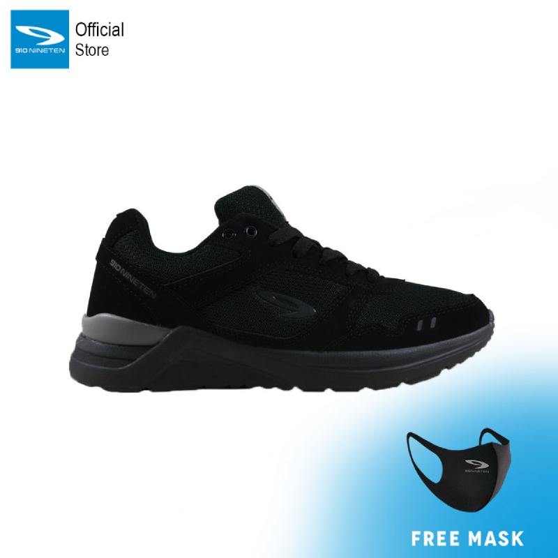 910 Nineten Chiru 1.5 Sepatu Lari Pria - Hitam
