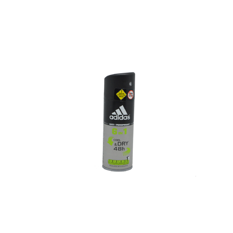 Adidas Men Deo Spray 6In1 Cool and Dry 150Ml