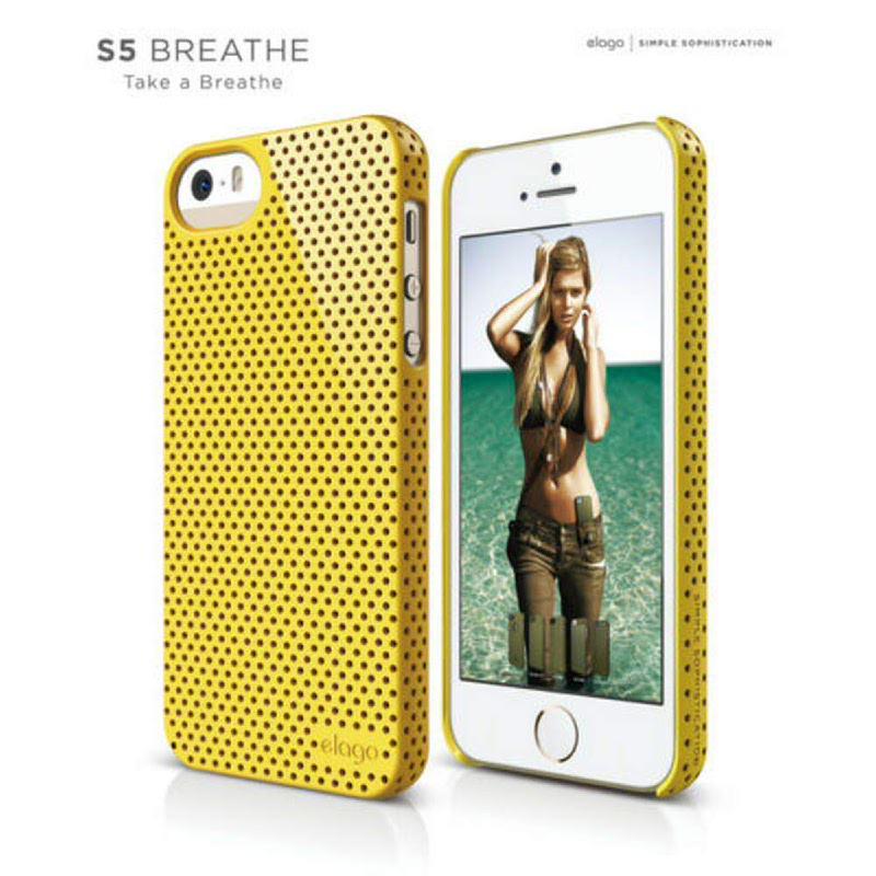 Elago Breath Case for iPhone SE, 5, 5S - UV Sport Yellow