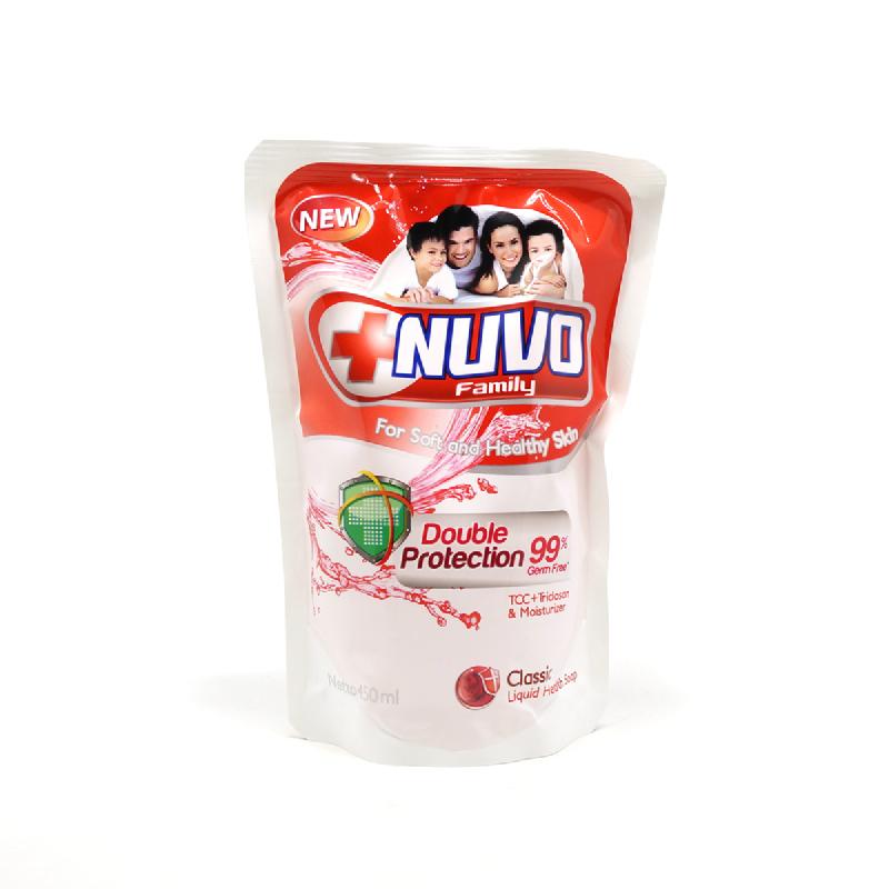 Nuvo Body Foam Classic Merah Pouch 450Ml