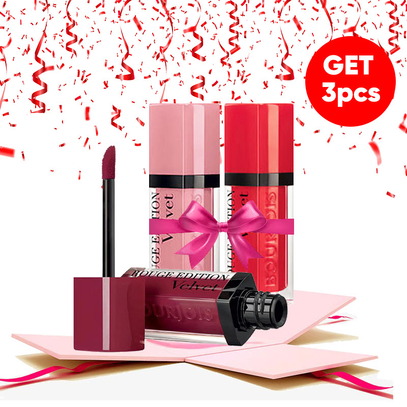 Bourjois Bundle Rouge Edition Velvet (Geand Cru + Dont Pink of It + Hot Pepper)