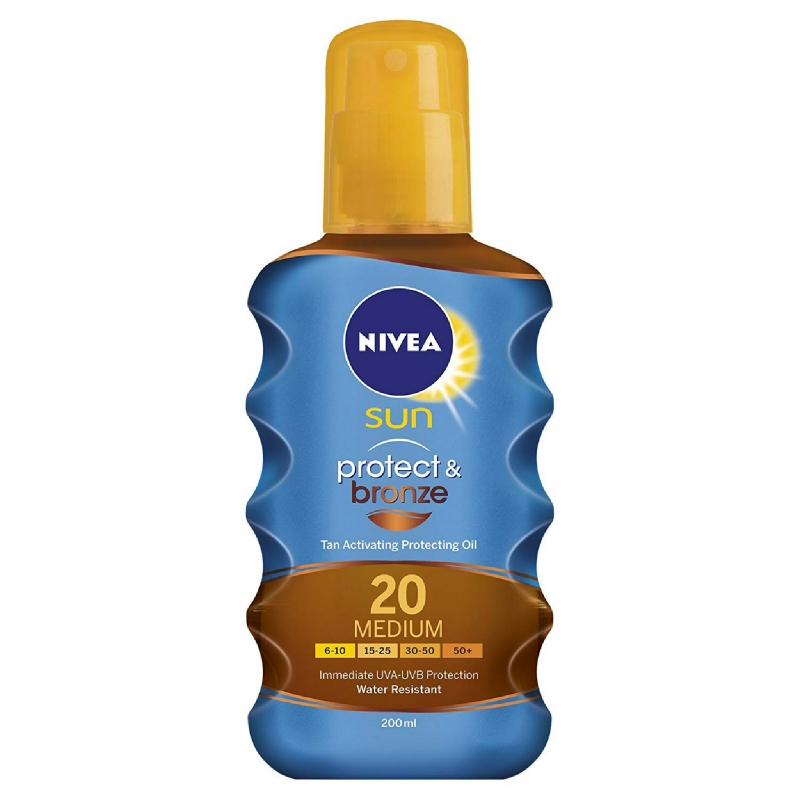 Nivea Sun Spray Protect & Bronze Spf 20 200 ml