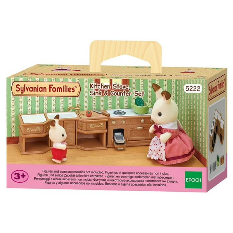 Sylvanian Families Kitchen Stove Sink & Counte ESFU52220