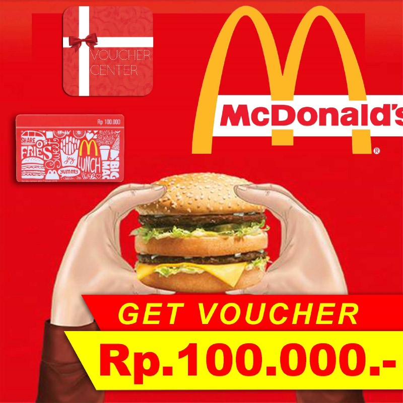 MCD Voucher senilai Rp.100.000