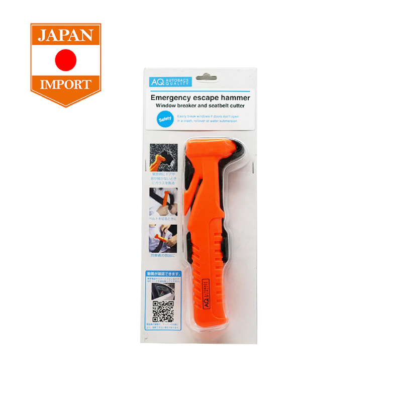 AQ Emergency Escape Hammer Palu Keselamatan Aksesoris Mobil [Japan Import]