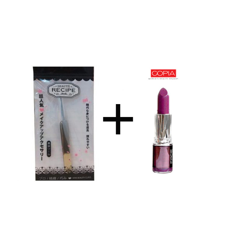 Beaute Recipe Acne Clip 1663 + Be Matte Lipstick Hot Magenta