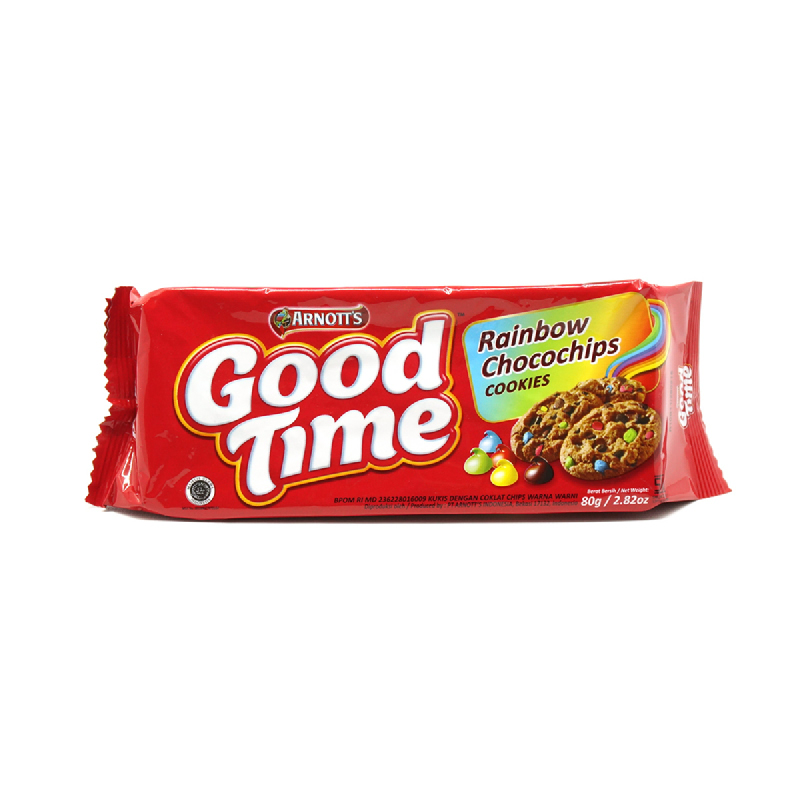 Good Time Rainbow Chocochips Cookies 80g