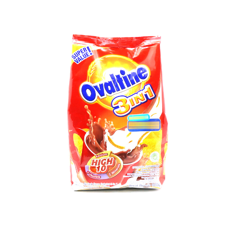Ovaltine Powder Milk 3 In 1 Bag 900 Gr