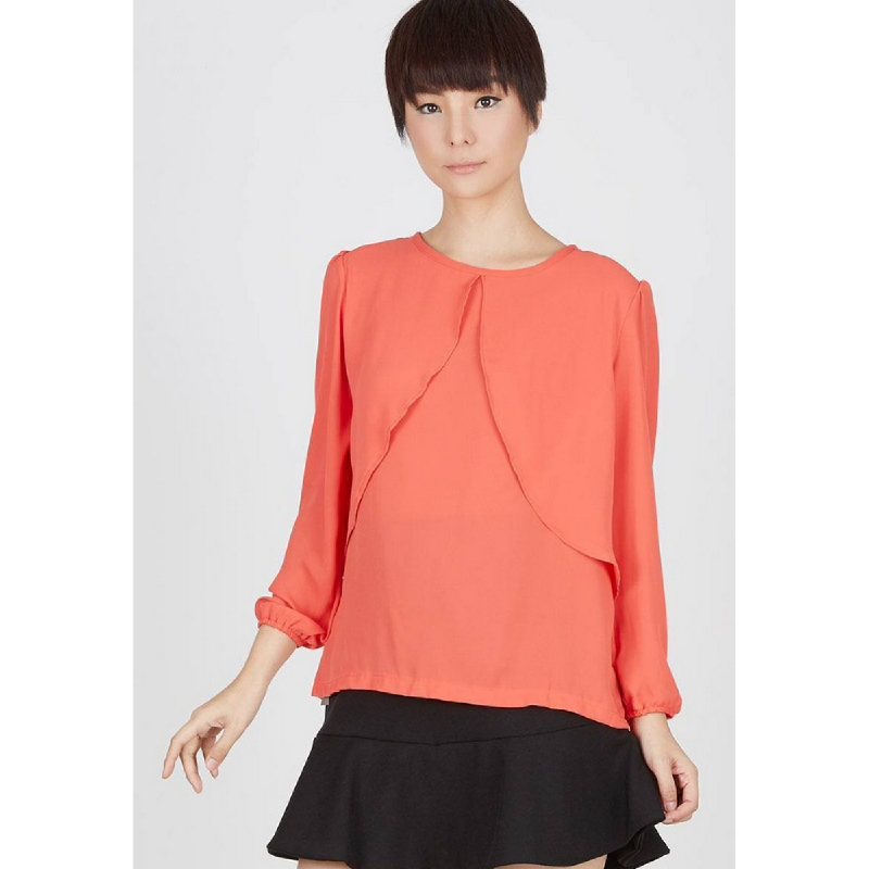 Lovadova Montana Butterfly Blouse Orange