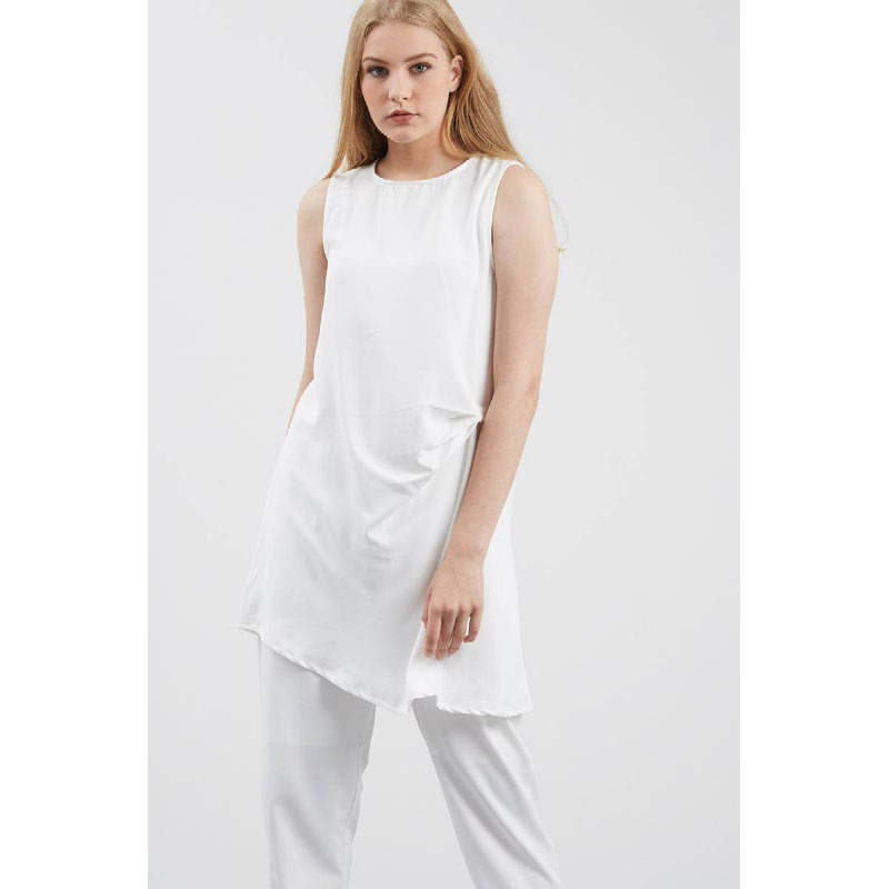 Vada Drape Top White