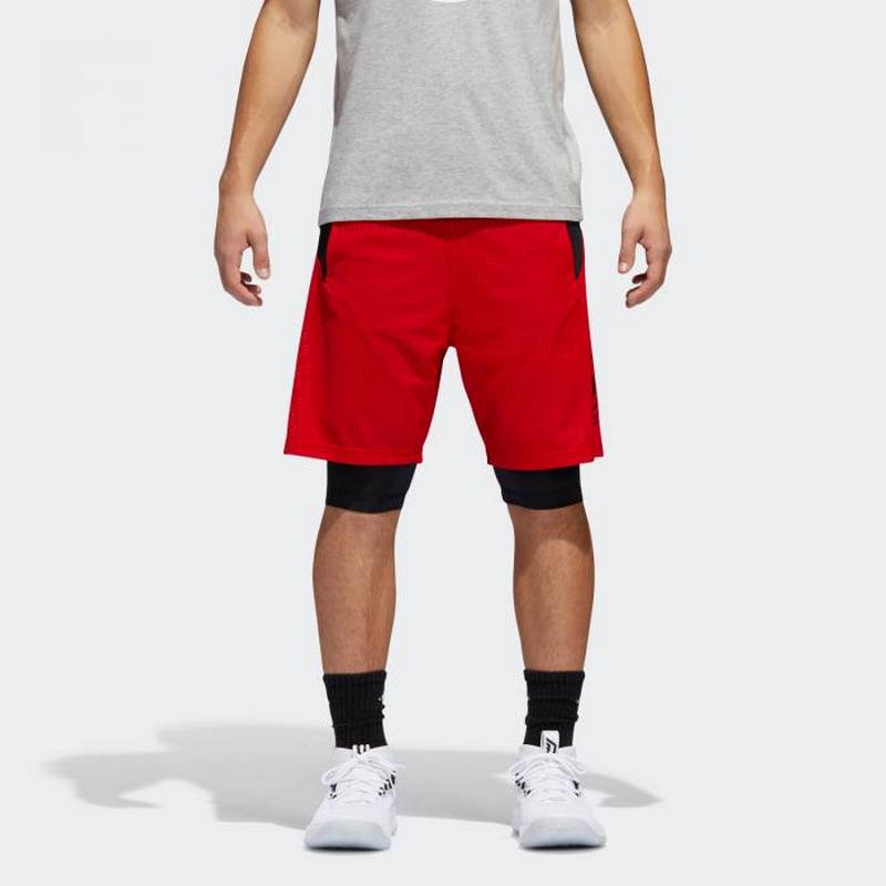 Adidas Dame Short Logo Red CE7349