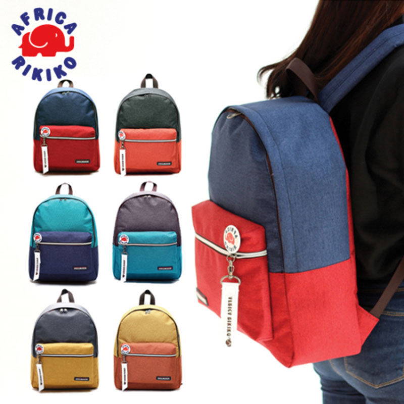120 Casual Backpack - White & Orange