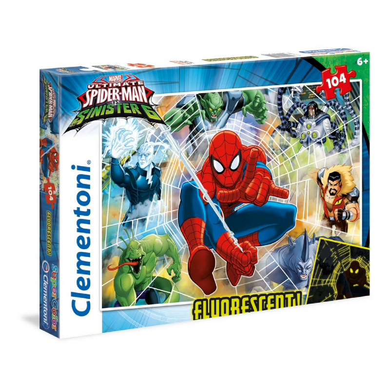 Clementoni Spiderman - 104 pcs - Puzzle Neon
