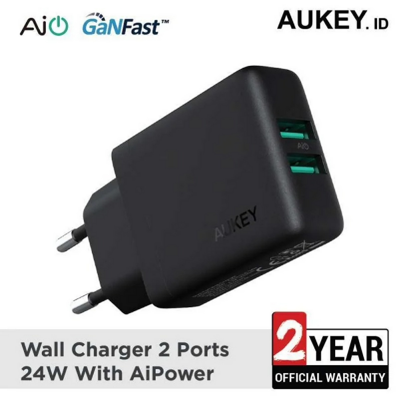 Aukey Charger Dual Port USB with Aipower - 500348