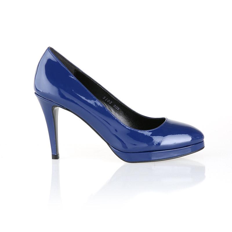 Helena&Kristie - Manhattan Platform Pumps Blue (Size 37)