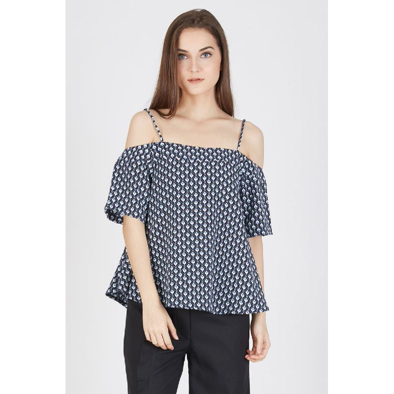 Payson Cold Shoulder Top Blue