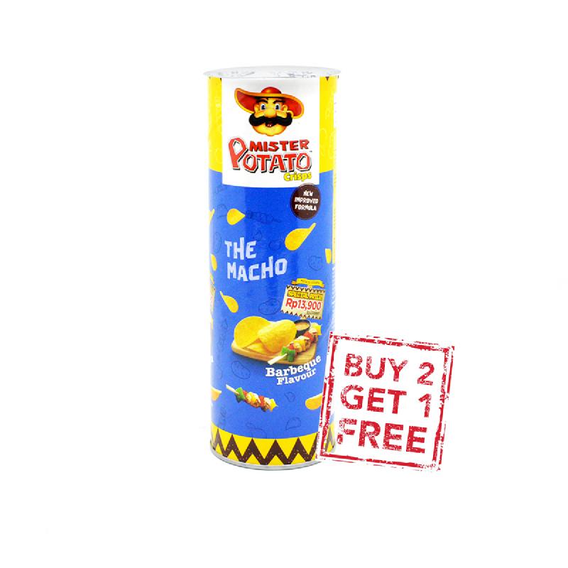 Mister Potato Chips Bbq 80G (Buy 2 Get 1)