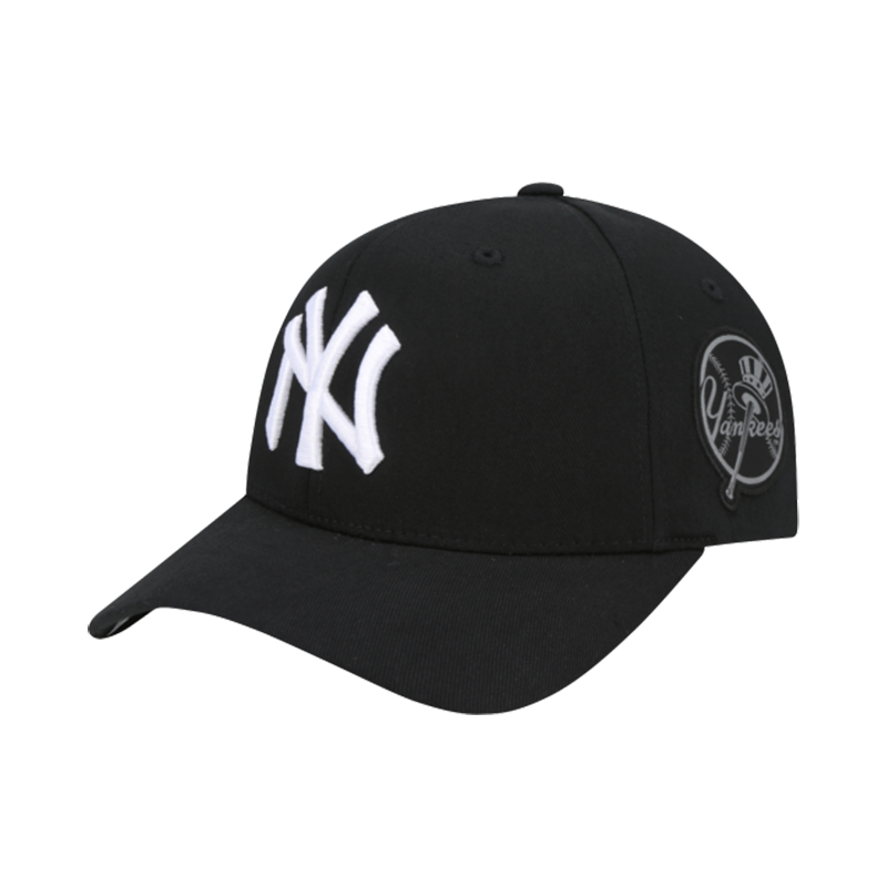 MLB New York Yankees Round Patch Curved Cap Black