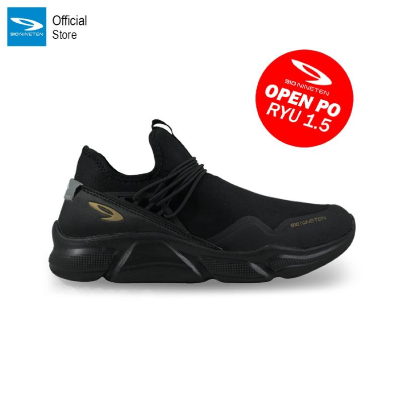 910 Nineten Ryu 1.5 Sepatu Lari - Hitam Abu Tua Emas