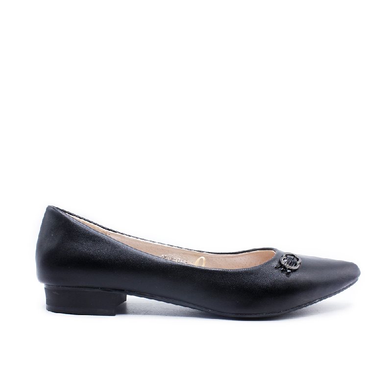 DEA Pointed Pin Flat Shoes 1808-043 Black
