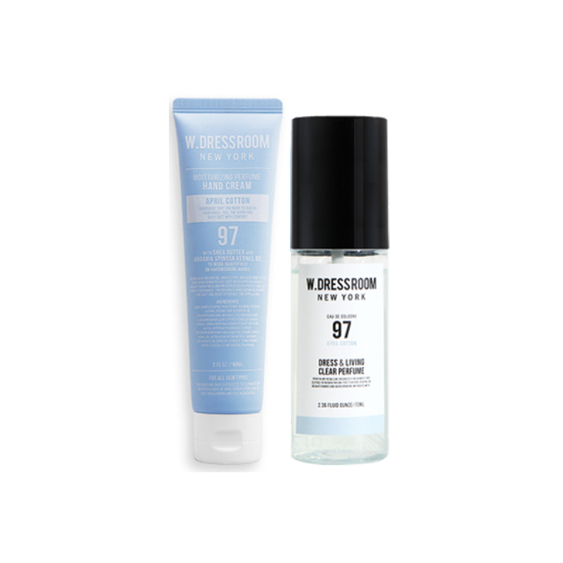W.Dressroom Perfume Hand Cream & Dress perfume No.97 April Cotton Set