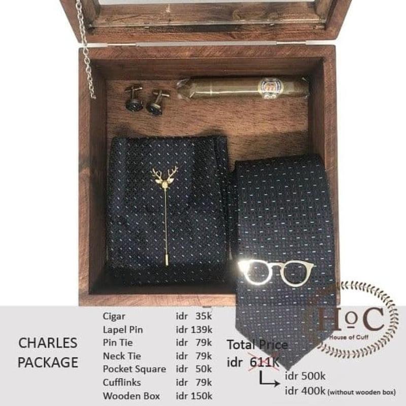House Of Cuff Groomsmen Box Bestman Cufflinks Dasi Wedding Bowtie Charles Package