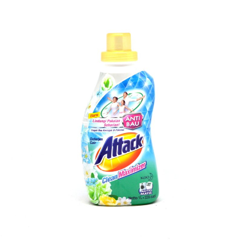 Attack Detergen Cair Clean Maximizer Botol 1 L