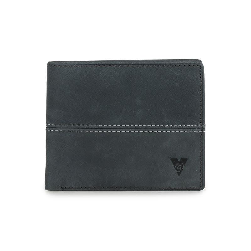 ATVERSO Leather Mens Wallet Dark Grey