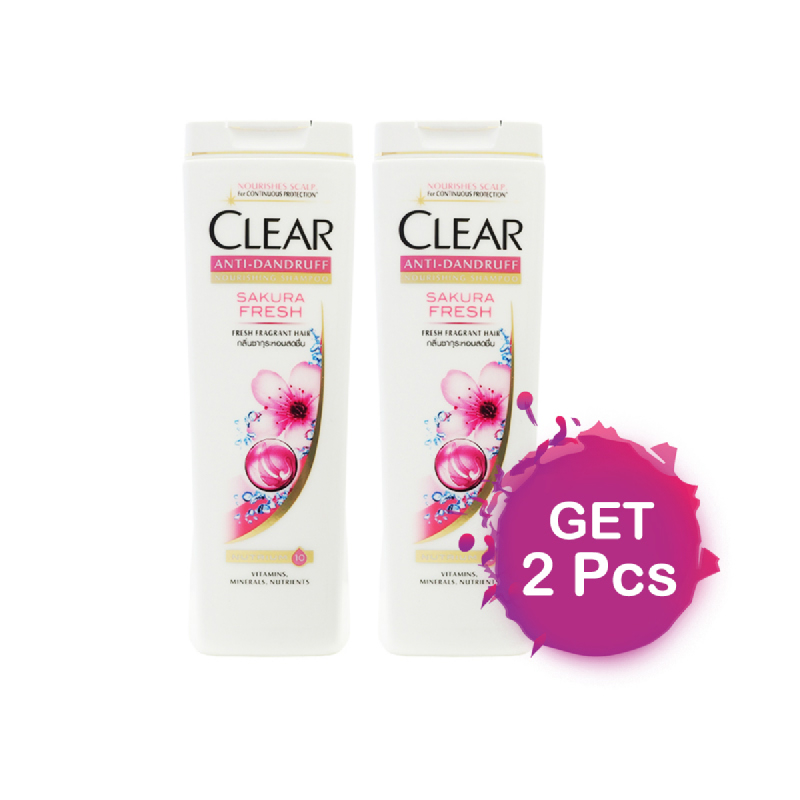 Clear Shampoo Sakura Fresh 340 Ml (Get 2)