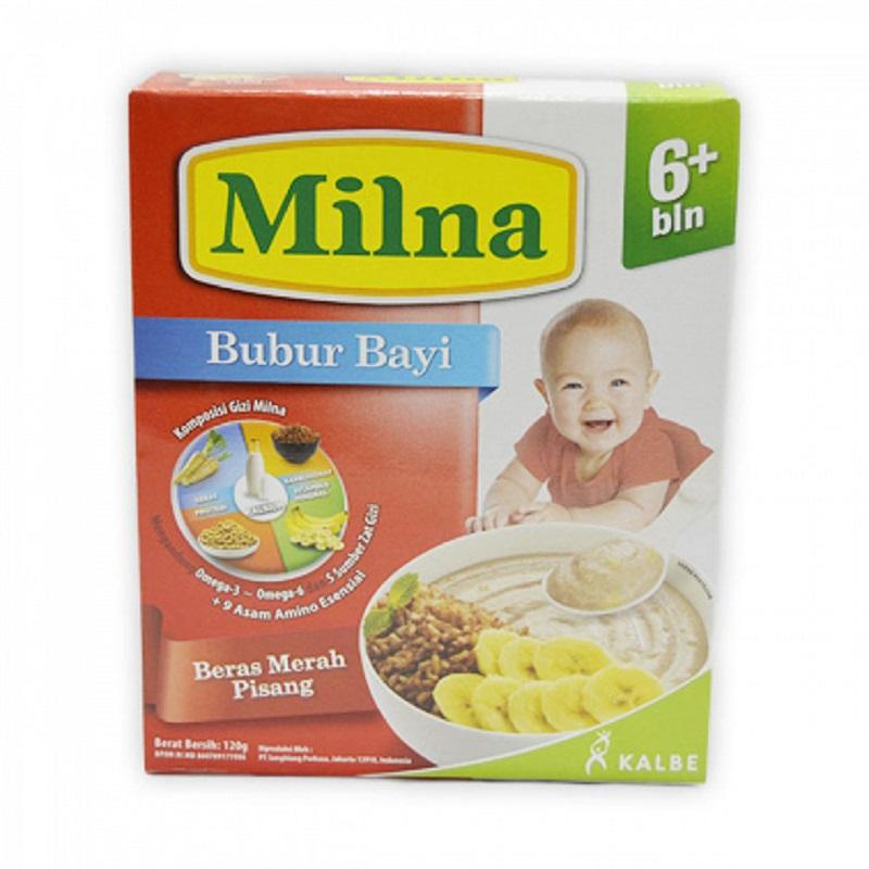 Milna Bubur Bayi 6+ Beras Merah Pisang 120 Gr Box