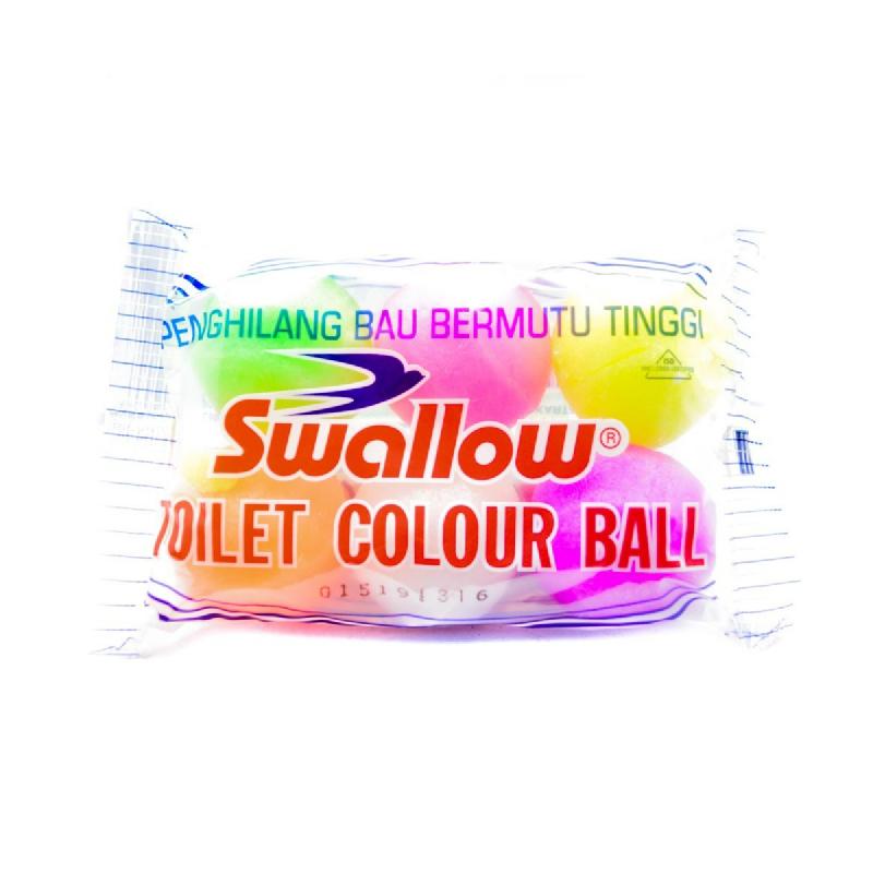 Swallow Globe Brand Camphor Toilet Color Ball 6 Pcs