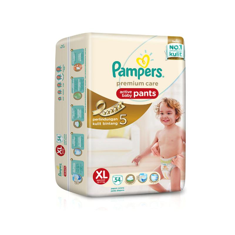 Pampers Premium Active Baby Diaper Pants Sjumbo XL 54S