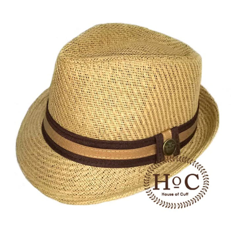 House Of Cuff Topi Fedora Hat Fedora Listed Brown