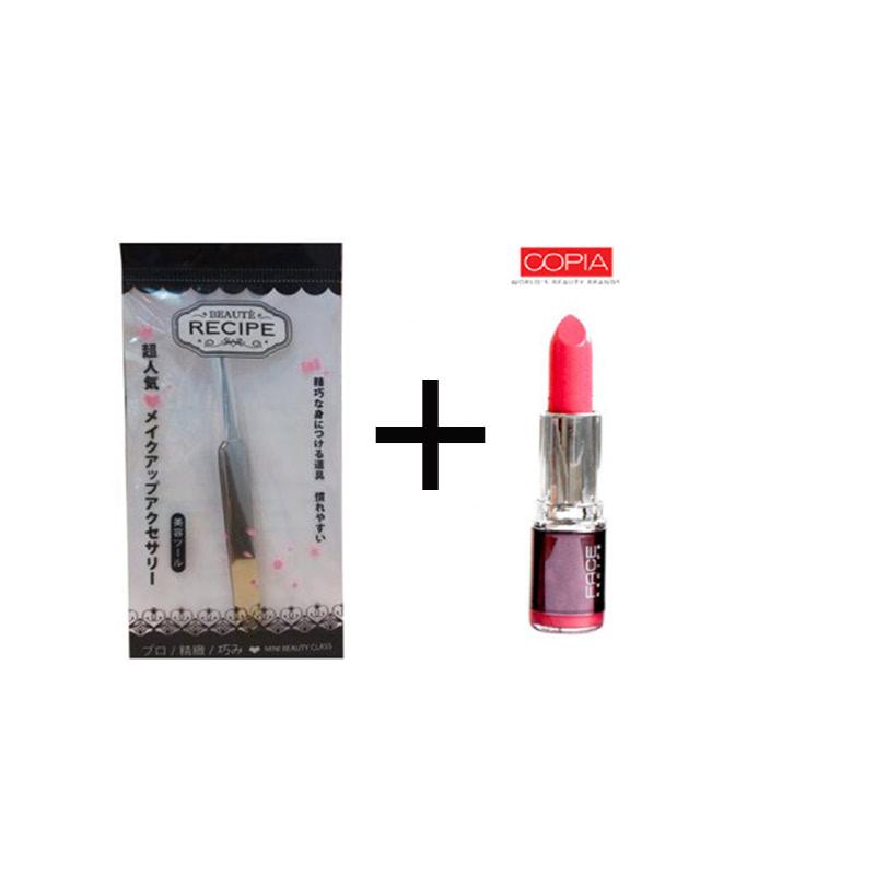 Beaute Recipe Acne Clip 1663 + Be Matte Lipstick Hotpink