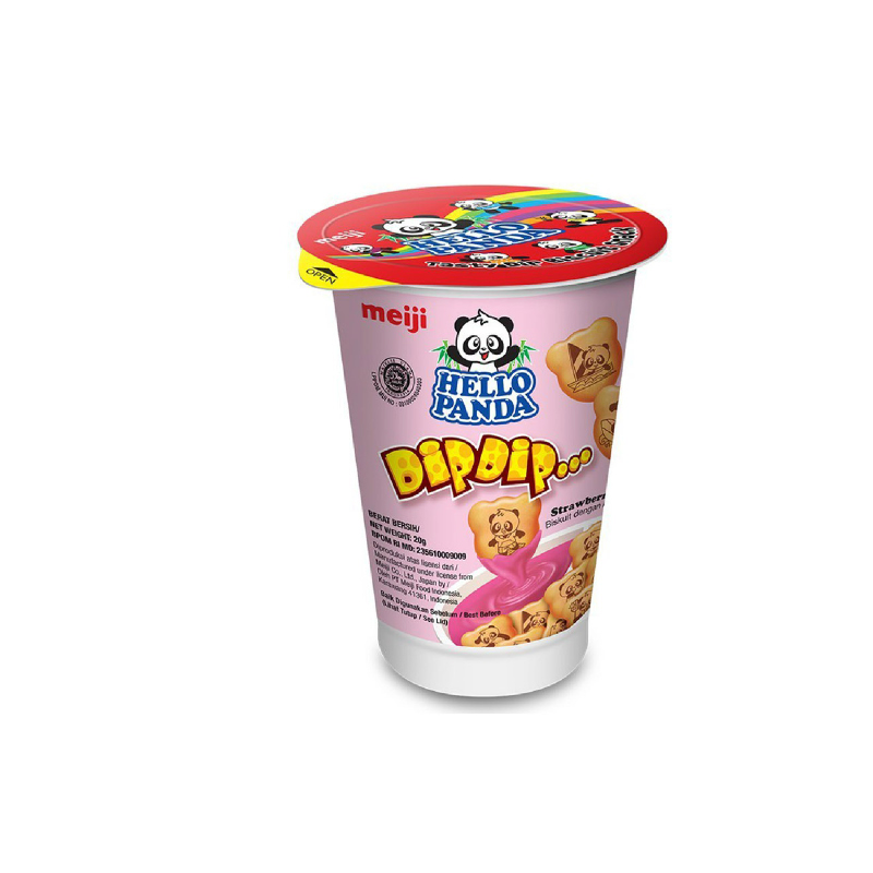 Meiji Hello Panda Dip Dip Strawberry 20 Gr