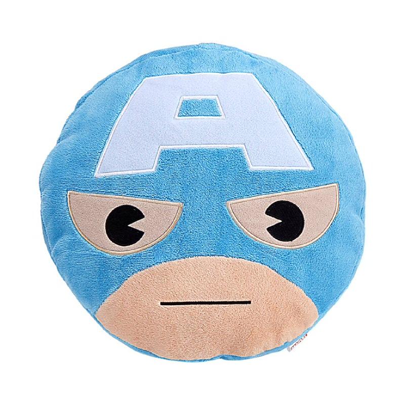 Captain America Head Cushion Blue