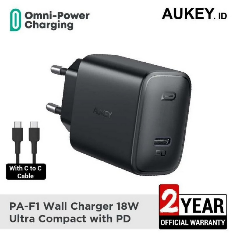 Aukey Charger PA-F1 18W Ultra Compact with PD - 500479
