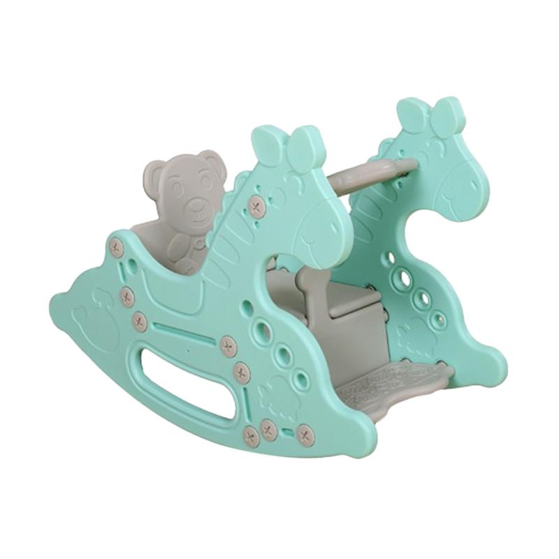 Coby Haus Lolly Gummy Rocking Horse Mainan Menunggang Blue
