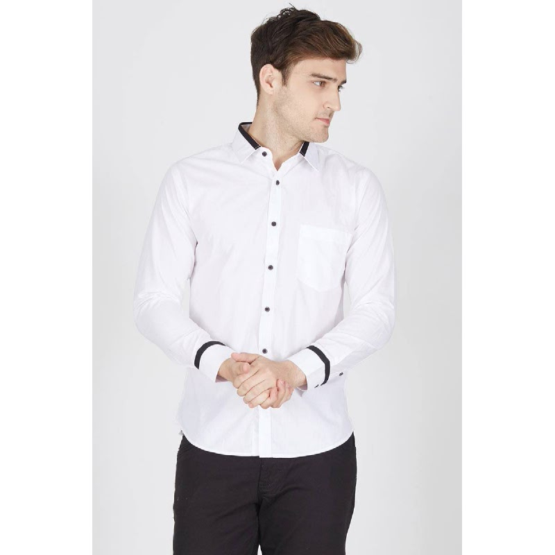 Men Grand Tux Shirt LS White