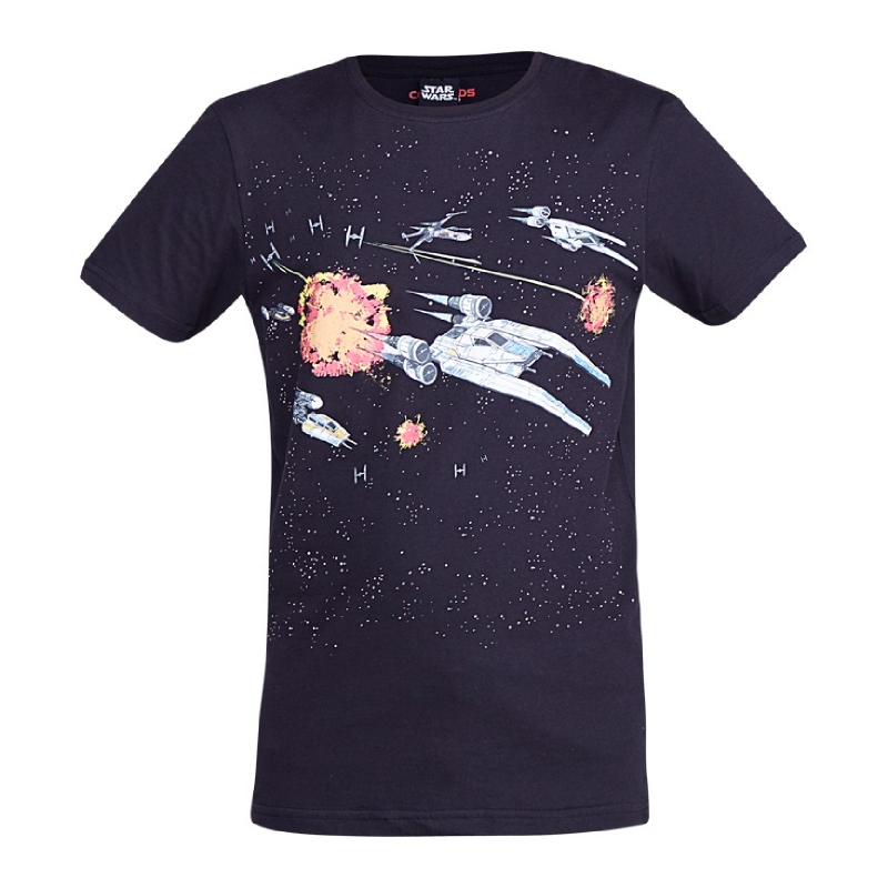 Rogue One Space Ship T-Shirt Boy Black